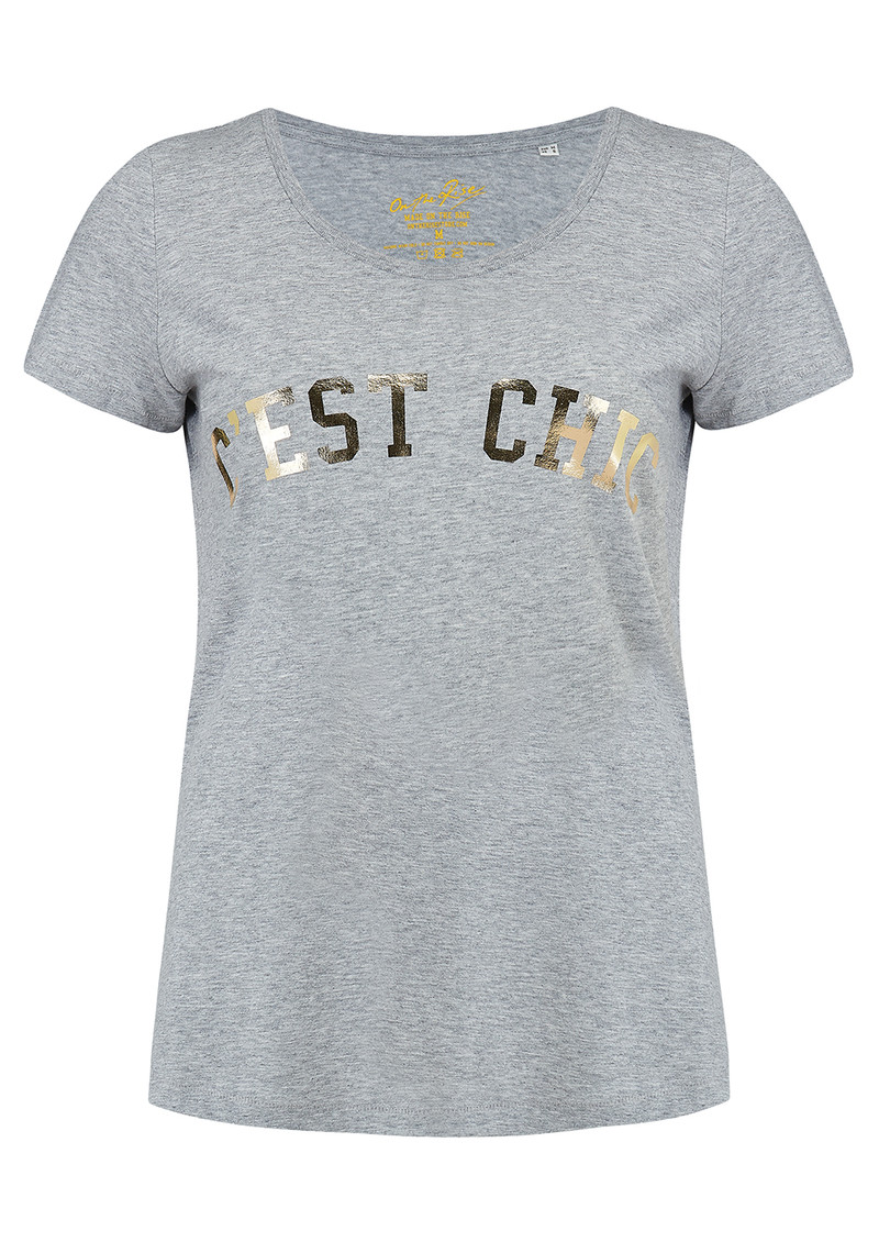 ON THE RISE C'est Chic Tee - Grey main image
