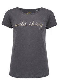 ON THE RISE Wild Thing Tee - Dark Grey & Gold