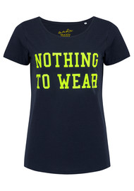 ON THE RISE Nothing to Wear Tee - Navy & Neon Yellow