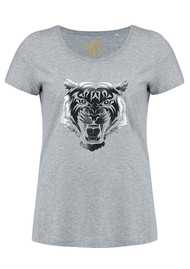 ON THE RISE Tiger Tee - Grey & Silver