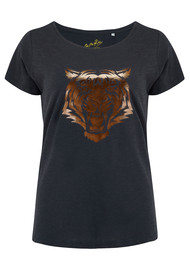 ON THE RISE Tiger Tee - Black & Rose Gold