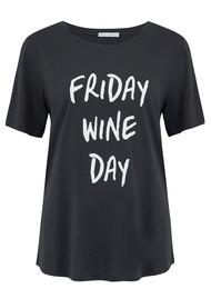 SOUTH PARADE Lola Wine Day T-Shirt - Dark Grey