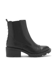 KENDALL & KYLIE Port Chunky Leather Boot - Black