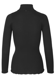 Rosemunde Babette Polo Neck Top - Black