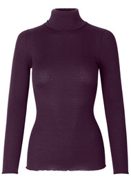 Rosemunde Babette Polo Neck Top - Bourgogne