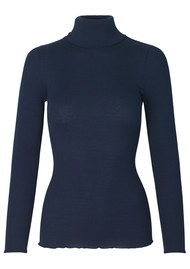 Rosemunde Babette Polo Neck Top - Navy