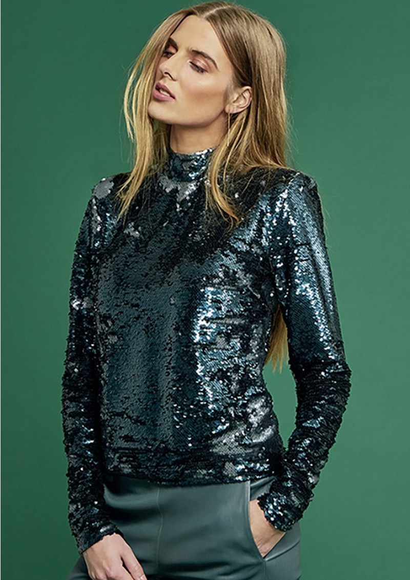 DANTE 6 Carly Sequin Top - Oak main image