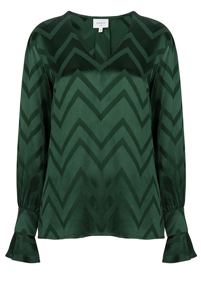 DANTE 6 Lotus Blouse - Leaf Green main image