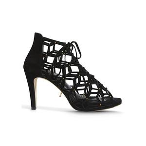 Fairytale Suede Stud Heels - Black