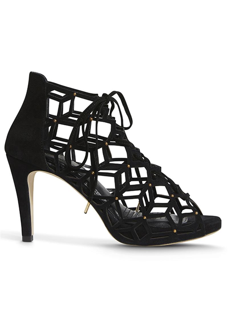 SARGOSSA Fairytale Suede Stud Heels - Black main image