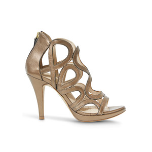 Redefined Leather Heels - Urano Gold