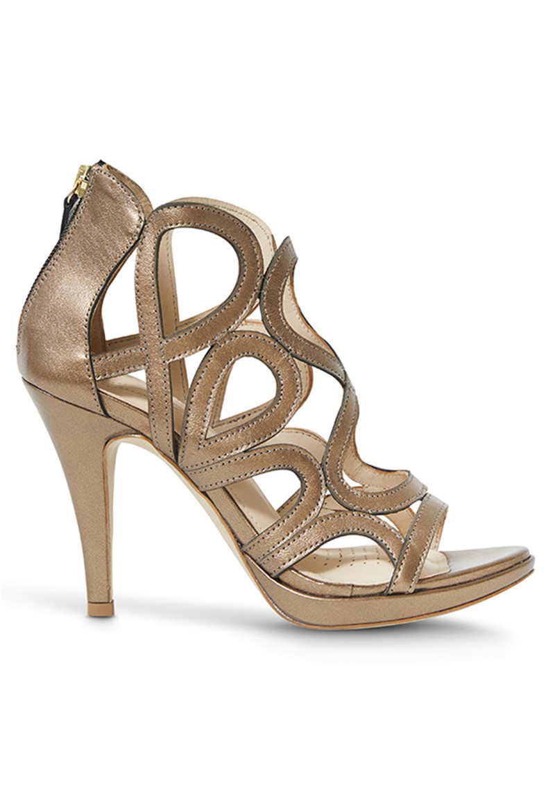 SARGOSSA Redefined Leather Heels - Urano Gold main image