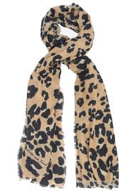 Painted Leopard Scarf - Gold