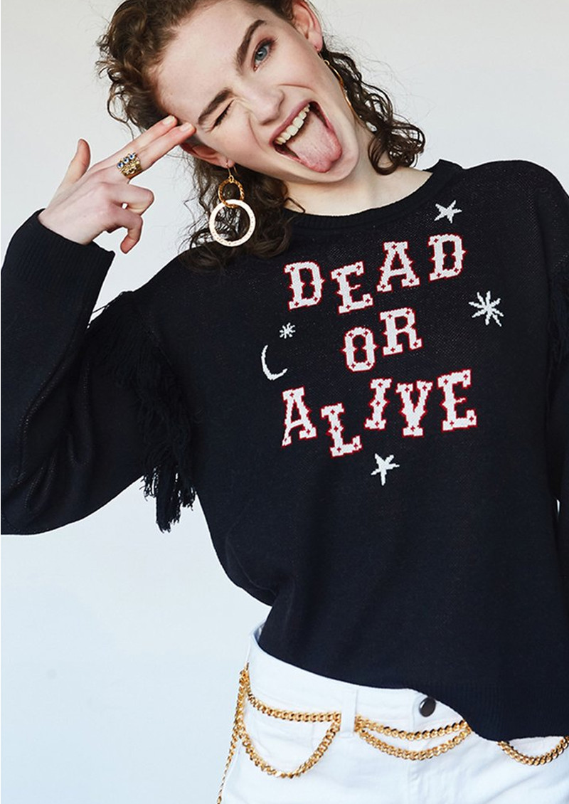 HAYLEY MENZIES Dead or Alive Jumper - Black main image