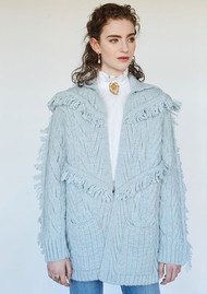 HAYLEY MENZIES Etta Short Knitted Cardigan - Ice