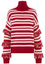 HAYLEY MENZIES Sunrise Stripe Jumper - Red & Pink