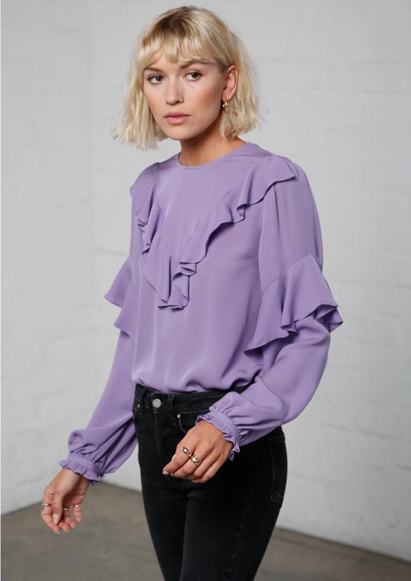MAYLA Vivianne Silk Blouse - Violet main image