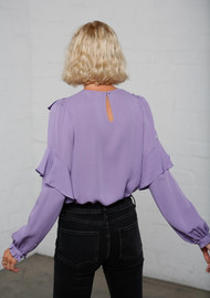 MAYLA Vivianne Silk Blouse - Violet