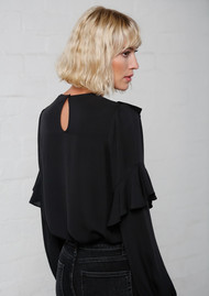 MAYLA Vivianne Silk Blouse - Black