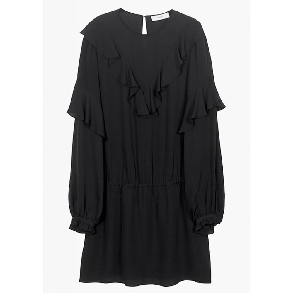 Vivianne Silk Dress - Black