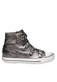 Ash Virgin Moon Leather Buckle Trainers - Stone