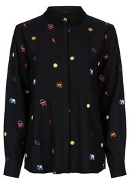 FABIENNE CHAPOT Lala Shirt Blouse - Black Animal