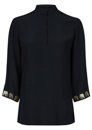 FABIENNE CHAPOT Lidy Top - Black & Gold