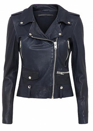 MDK Seattle Leather Jacket - Blue Night