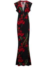 NORMA KAMALI V Neck Rectangle Dress - Bloom Roses