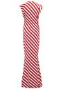 NORMA KAMALI V Neck Rectangle Dress - Tango Stripe