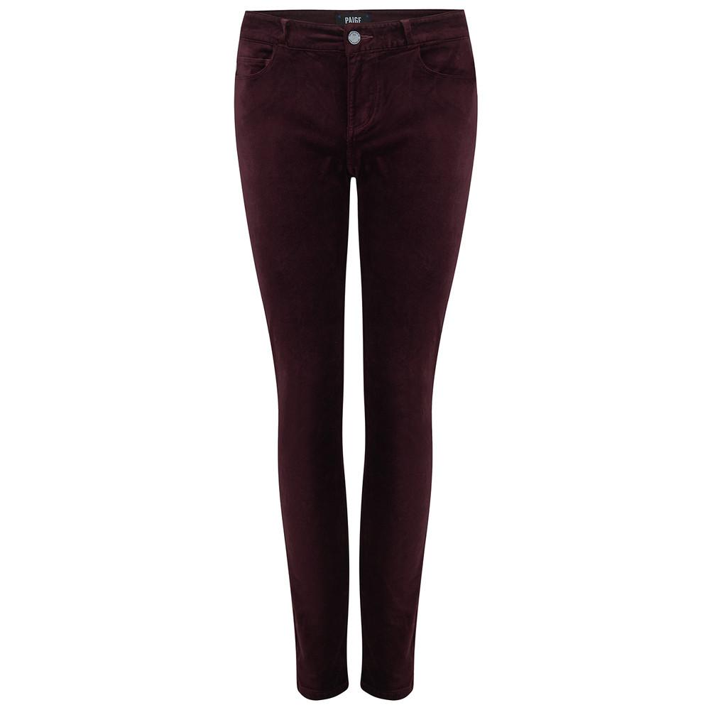 Verdugo Ultra Skinny Velvet Jeans - Dark Currant