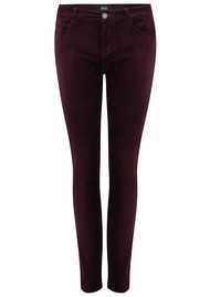 Paige Denim Verdugo Ultra Skinny Velvet Jeans - Dark Currant
