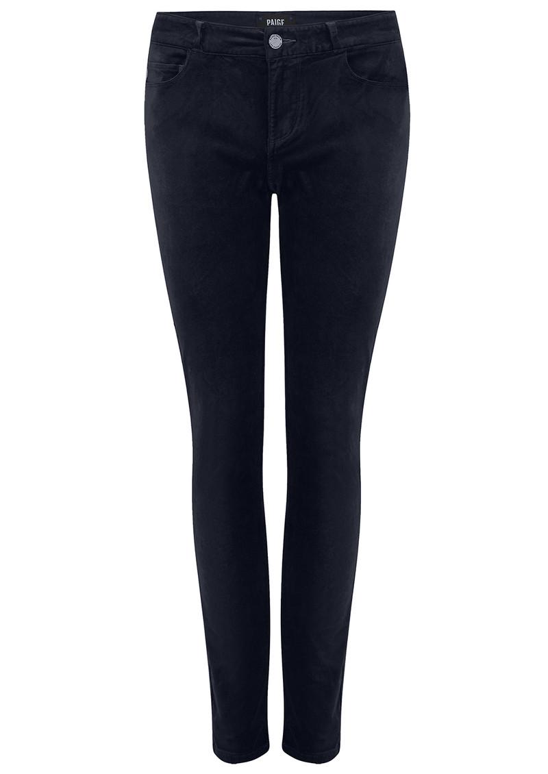 Paige Denim Verdugo Ultra Skinny Velvet Jeans - Midnight Slate main image