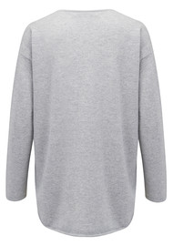COCOA CASHMERE Side Zip Cashmere Jumper - Grey & Canary