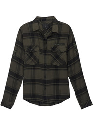 Rails Pepper Shirt - Olive Black