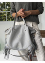 MERCULES Carpenter Fringe Bag - Grey