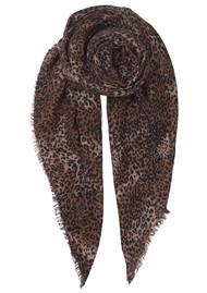 Becksondergaard Kofi Wool Mix Leopard Scarf - Soft Beige