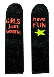 UNIVERSE OF US Sparkle Socks - Girls Just Wanna Have Fun