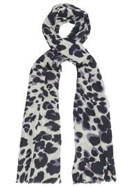 Lily and Lionel Painted Leopard Scarf - Grey