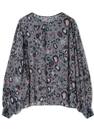 Lily and Lionel Livia Blouse - Doodle Leopard Grey