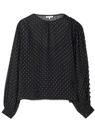 Lily and Lionel Livia Blouse - Black & Gold