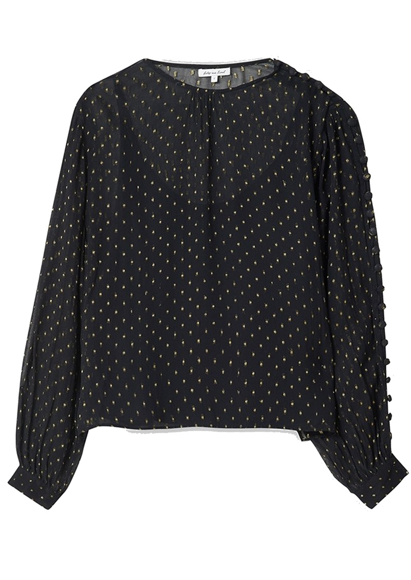 Lily and Lionel Livia Blouse - Black & Gold main image