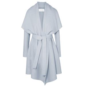 Blanket Belted Coat - Ice Grey