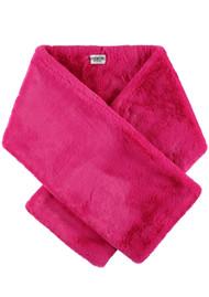 ESSENTIEL ANTWERP Rouan Faux Fur Scarf - Miami Pink