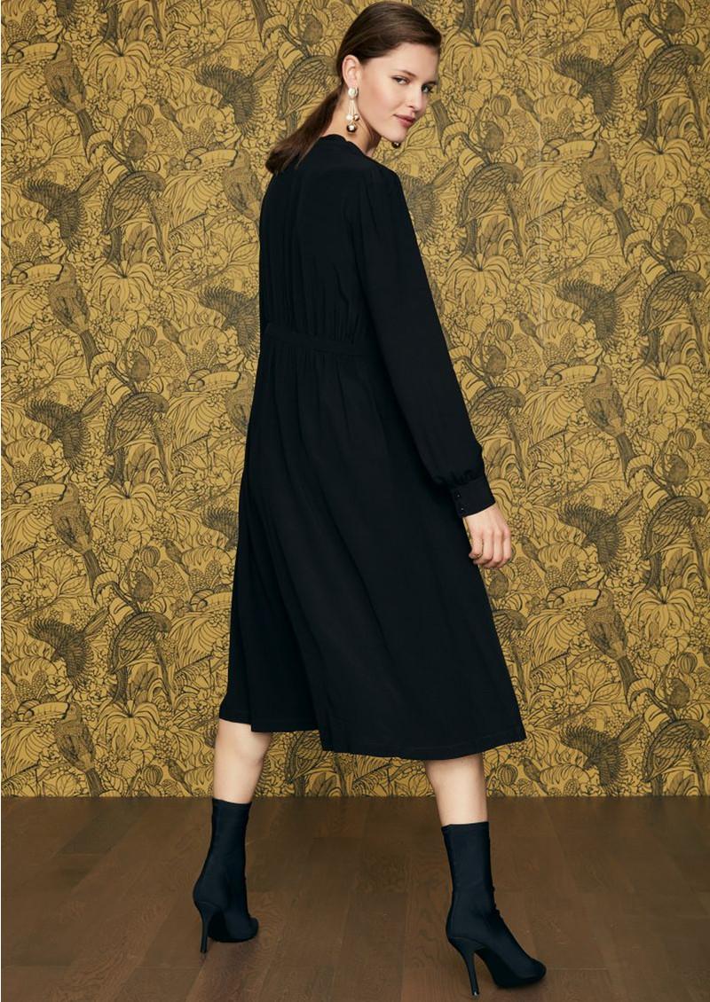 IDANO Courgette Snake Embellished Dress - Black  main image