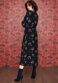 IDANO Wasabi Butterfly Printed Dress - Black
