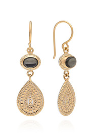 ANNA BECK Mirage Smooth Pyrite Double Drop Earrings - Gold