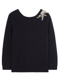 Ba&sh Ourea Sweater - Dark Blue