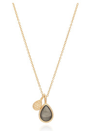 ANNA BECK Mirage Smooth Pyrite Double Drop Reversible Pendant Necklace - Gold