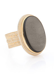 ANNA BECK Mirage Smooth Pyrite Cocktail Ring - Gold